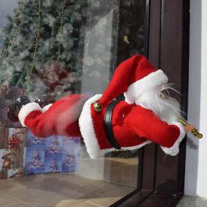 Addobbi Natalizi Ebay.Babbo Natale Volante Decorativo Finestre Balconi Con Ventose Addobbi Natalizi Ebay