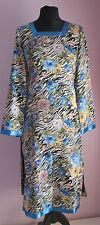 De Colección Señoras Sin Marca Negro/Azul Animal Print Floral Vestido de estilo chino Talla 8