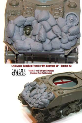 Value Gear 1//48 M4 Sherman EP Sandbag Front Version #2 for Tamiya kit #32505