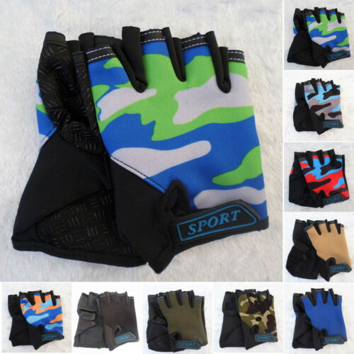 2pcs Children Kids Cycling Gloves Half-Finger Breathable Outdoor Sports Bicycle