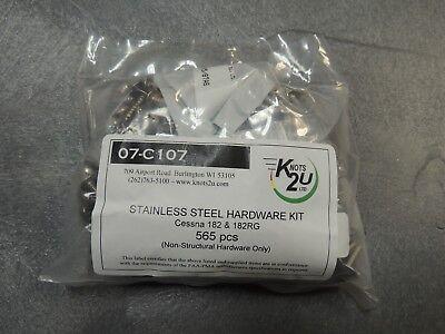 Cessna 182//182RG 565 Pcs. Not 182T Models Stainless Steel Hardware Kit