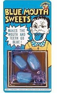 Blue Mouth Sweets Funny Childrens Tricks Evil Joke Sweets Party Bag Fillers