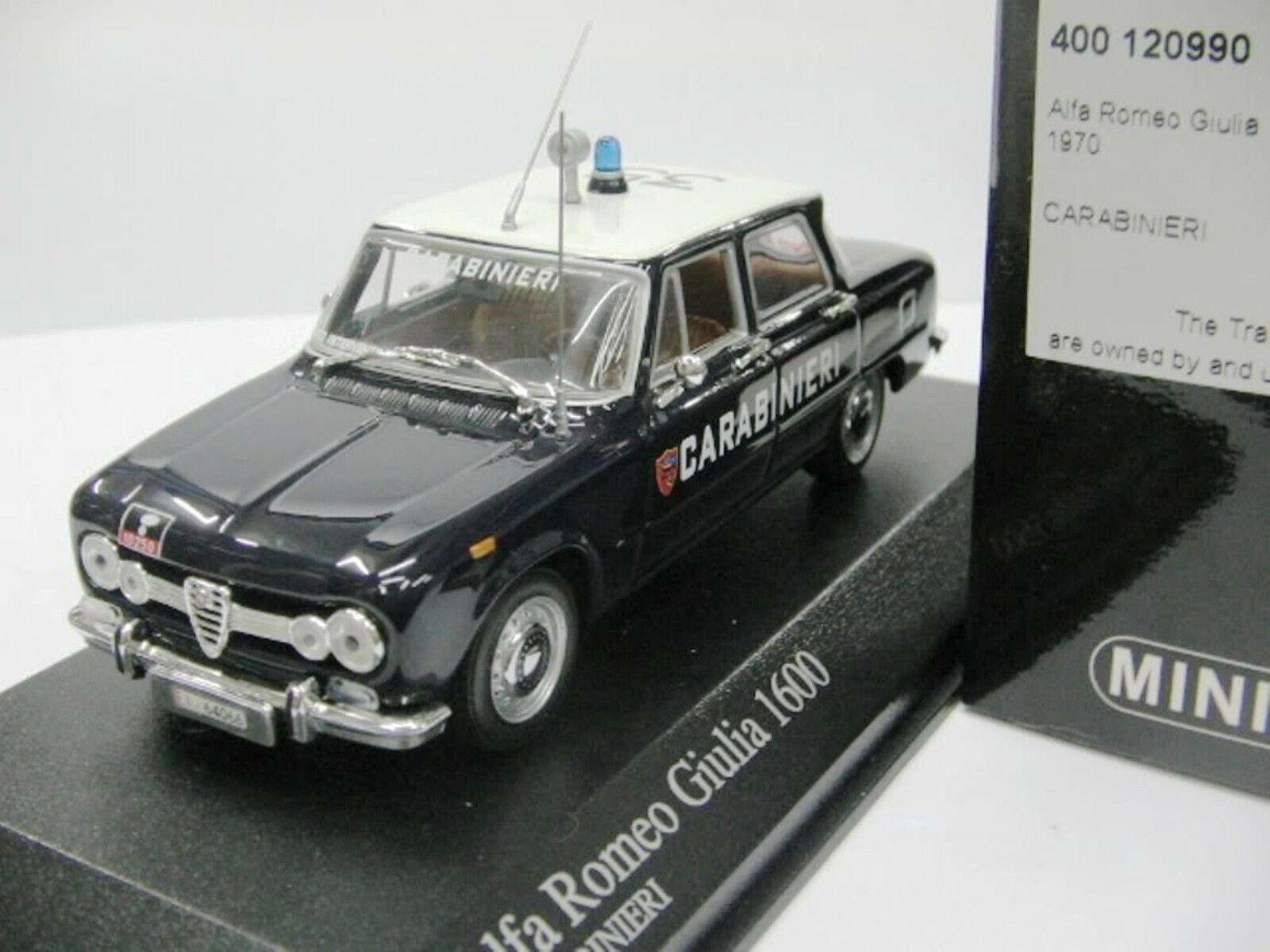 WOW estremamente raro Alfa Romeo 115 GIULIA NUOVA 1600S Police 1970 1 43 Minichamps