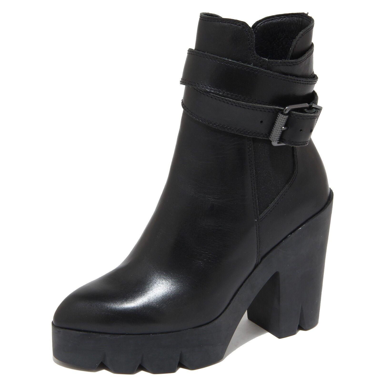 3896N tronchetto ASH stivali donna boots Donna nero