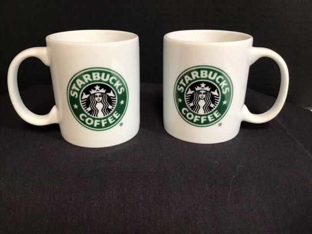 Starbucks Mermaid Coffee Mug 9 Fl Oz White Cup Green And Black Siren Logo 2005 For Sale Online Ebay
