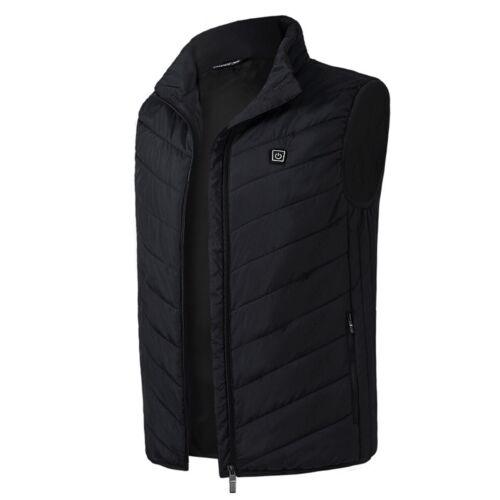 Electric Vest Heated Jacket USB Thermal Warm Heat Pad Winter Body Warmer Unisex