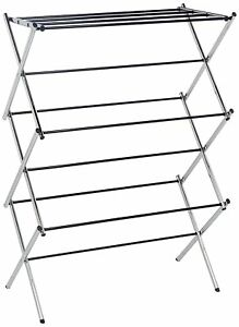 Large Spacious 3 Tier Stainless Steel Chrome Plated Foldable Clothes