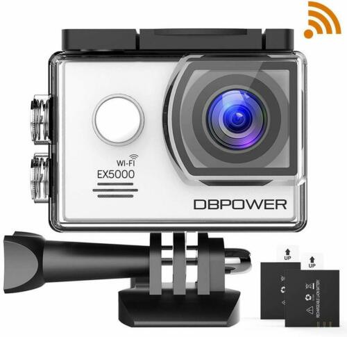 DBPOWER EX5000 2.0inch WIFI 14MP 1080P FHD Waterproof Sports Action Camera WHITE