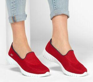 Skechers-Shoes-Red-Go-Walk-Smart-Women-039-s-Casual-Slip-On-Comfort-Sport-Mesh-16708
