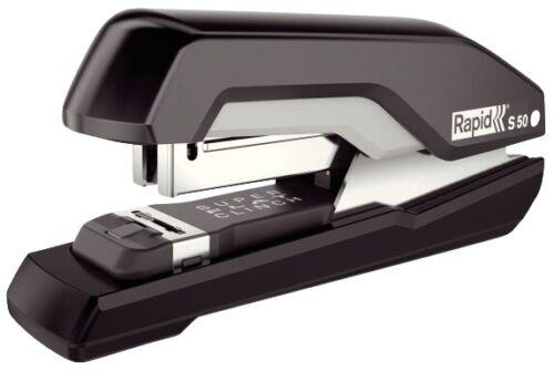 Metall schwarz//grau 50 Bl. Rapid Heftgerät Supreme S50