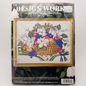 Counted-Cross-Stitch-Kit-Magnolias-Fruit-Basket-9703-Laurie-Korsgaden-14x18-inch