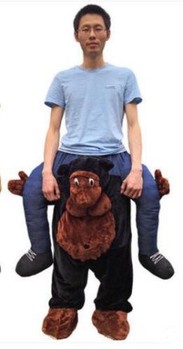 Teddy bear Chimpanzee Ride on Mascot Halloween Costume Adult Funny