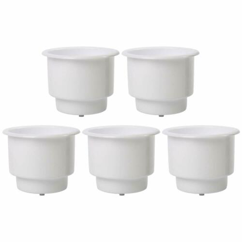 10PCS White Recessed Drop in Plastic Cup Drink Can Holder with Drain for Boat US