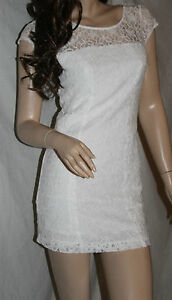 NWT-HOLLISTER-by-Abercrombie-Womens-Bodycon-White-Lace-Dress-3-S