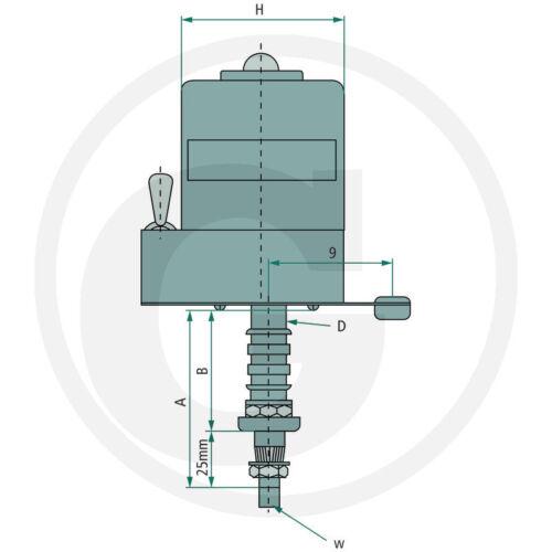 Scheibenwischermotor 12 Volt 105° kurze Ausführung Schlepper Traktor