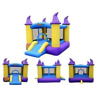 Bounce House Inflatables Kids Castle Jumper Slide With Blower Indoor Outdoor