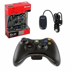 Microsoft xbox 360 wireless controller with receiver for windows.