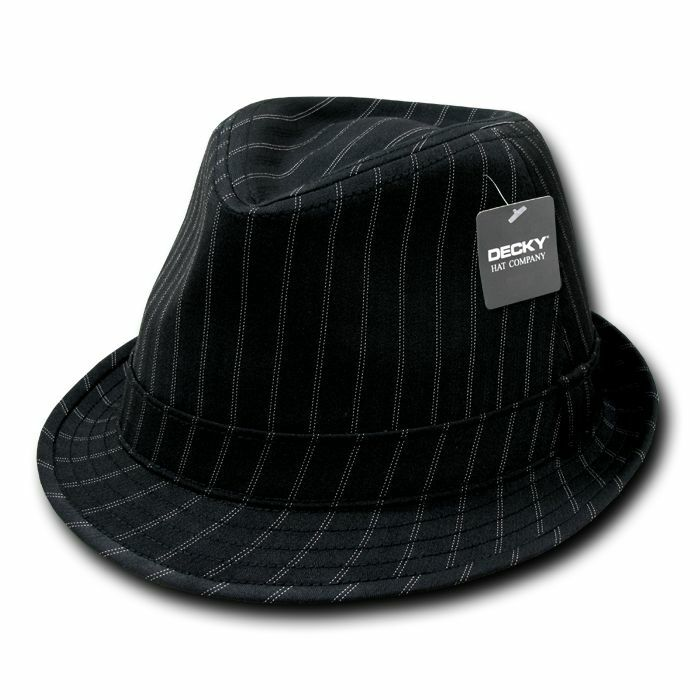 DECKY Double Pin Fedora Stripe Pinstripe Black White Fedora Pin Fedoras Hats d71c01