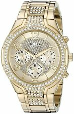 GUESS Gold-Tone Chronograph Ladies Watch U0628L2