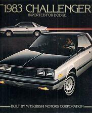 Dodge Challenger 1983 USA Market Sales Brochure Mitsubishi Sapporo L S Series