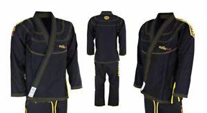 Tatami Bjj Estilo 5.0 Oro Nero Jiu Jitsu Brasiliano Uniforme Kimono Express P&p