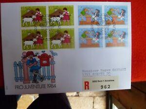 KIDS-BOOKS-CHARACTER-B-1984-SWITZERLAND-STAMPS-PRO-JUVENTUTE-REGISTERED