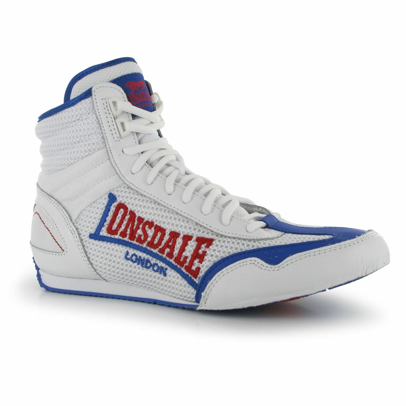 Lonsdale Contender Boxing Boots Mens White blueee Trainers Sneakers Gym shoes