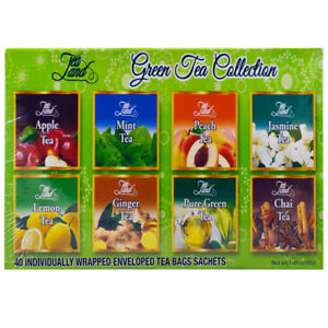Details About Tea Land Green Collection 8 Flavors 40 Individual Wred Bags Sachets