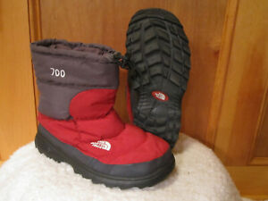 Mens-TNF-Nuptse-700-Fill-Goose-Down-Boots-Quilted-Puffy-Toggle-Collar-RED-GRAY-8