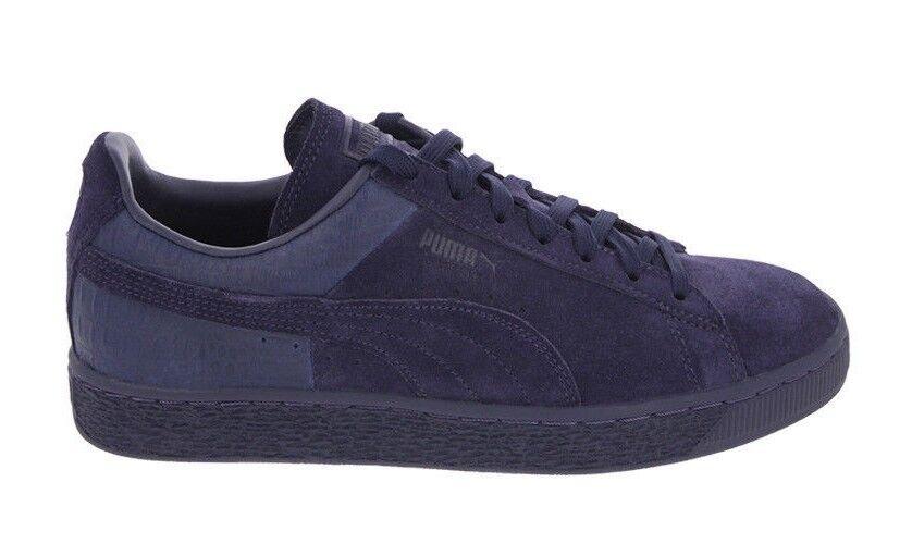 Puma Men's SUEDE CLASSIC CASUAL EMBOSS shoes Peacoat 361372-02 a
