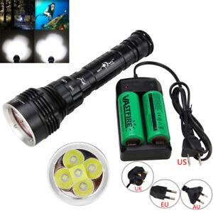 15000Lm 4x XM-L2 LED Scuba Diving Flashlight 26650//18650 Torch Underwater 100M