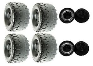 Power Wheels Jeep Wrangler Tires B7659-2459 4 Pack + 4 Retainers