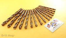 Drill Hog USA 21 Pc Jr Drill Bit Set Index COBALT M42 No Case Lifetime Warranty