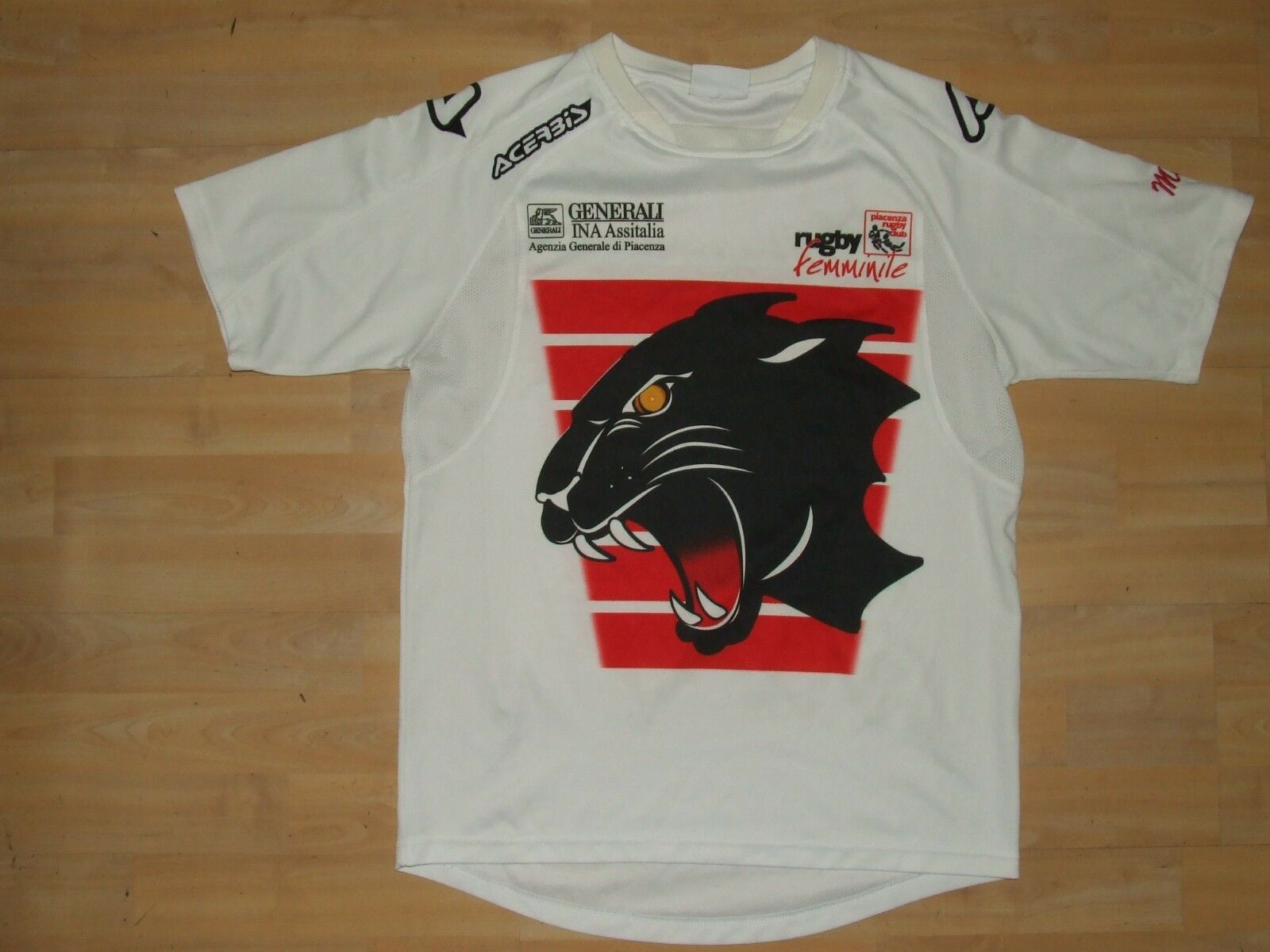 SHIRT TRIKOT MAILLOT RUGBY SPORT PIACENZA WOMEN n °4 size M