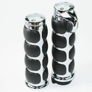 1-034-25mm-Handle-Bar-Hand-Grips-For-Harley-Softail-Electra-Road-Glide-King-V-Rod