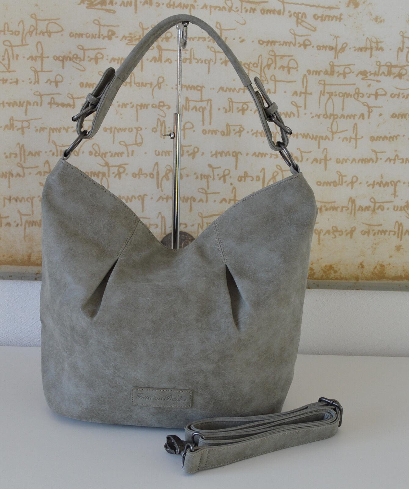 FRITZI AUS PREUßEN   ️  SALE Schultertasche Shopper Hobo ADELA Vintage Grau | Großartig