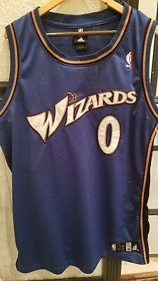 Authentic NBA Adidas Washington Wizards Gilbert Arenas Jersey 48 Sewn 0 Pro Wall   eBay