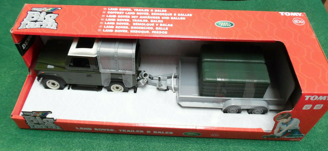 Britains Land Rover 'Big Farm' Series Defender 1 16th With Trailer & Bales