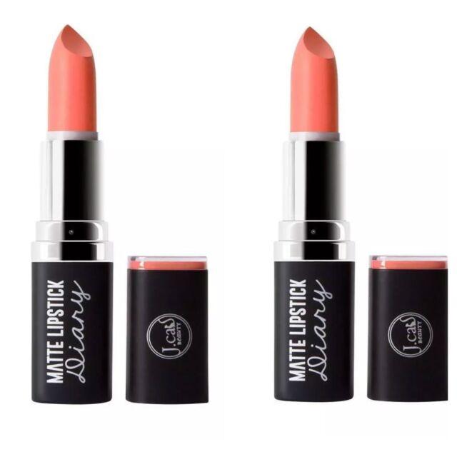 2 Lipsticks - J.cat Beauty MATTE LIPSTICK Diary MLD103 You ...