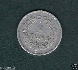 5 Franken Lavrillier 1949 ( Ref. 42 )