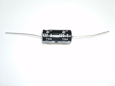 8uf @ 450 volt ELECTROLYTIC CAPACITOR, sold each