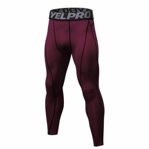 Men/'s Compression Base Layer Pants Quick Dry Sport Leggings Gym Workout Trousers