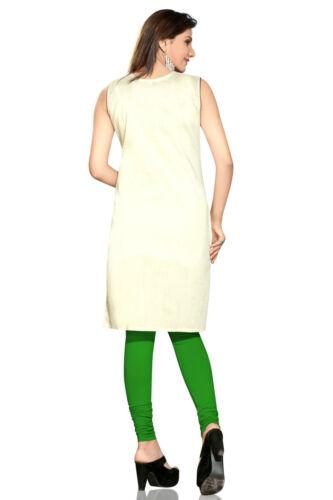 Indian Pakistani Silk Embroidery Kurti Tunic Dress Kurta Women Party Wear 0214