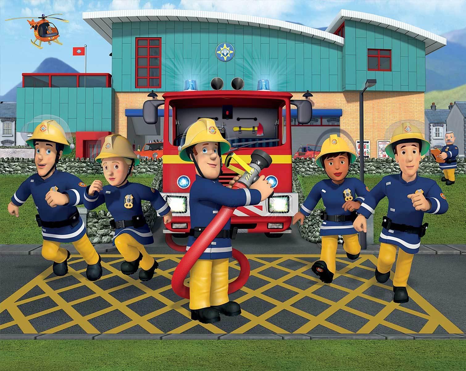 Walltastic papier peint 3d Optique Pompier Sam Pompiers papier peint la fresque