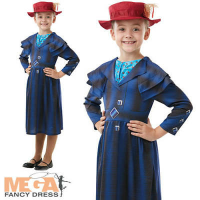 Mary Poppins Returns World Book Day Costume or Bag and Umbrella for Women Girls