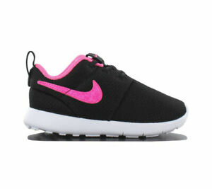28e0b2454f47 Nike Roshe One Tdv Childrens Shoes Toddler Baby Girl Black UK 7.5 EU ...