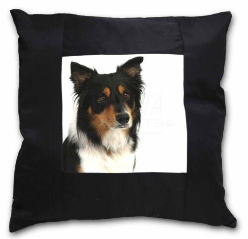 AD-CO33-CSB Tri-Colour Border Collie Dog Black Border Satin Feel Cushion Cover