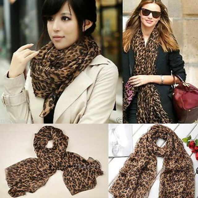 Fashion Leopard Soft Shawl Scarf Long Stole Pashmina Celebrity Wrap Gift
