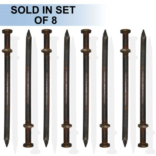 """Set of 8 24/""""x 1/"""" Double Head Tent Stake"""