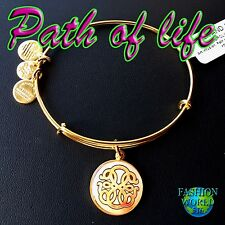 Alex and Ani Art Infusion PATH OF LIFE Charm Bangle Shiny GOLD W Tag/Card & Box